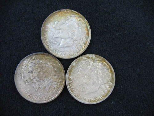 919116: 3 ARKANSAS CENTENNIAL 1936 COMMEMORATIVE 1/2 DO