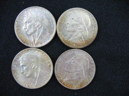 919117: 4 1937 DANIEL BOONE COMMEMORATIVE 1/2 DOLLARS
