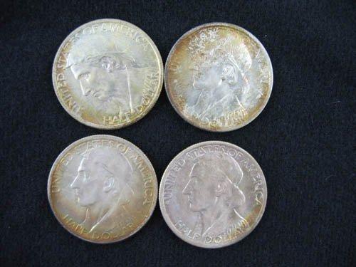 919118: 4 1936 DANIEL BOONE COMMEMORARIVE 1/2 DOLLARS