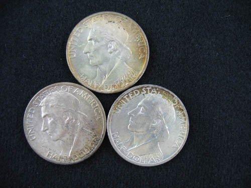 919119: 3 1935 DANIEL BOONE COMMEMORATIVE 1/2 DOLLARS