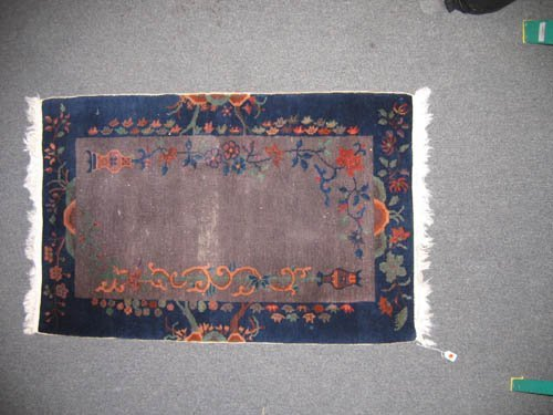 929106: CHINESE ARTS + CRAFTS  ANTIQUE ORIENTAL CARPET