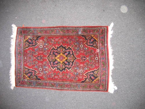 "929109: ANTIQUE HERIZ ORIENTAL CARPET(48""x30"")"