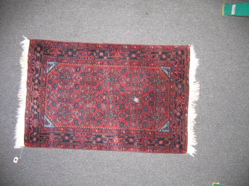 "929118: ANTIQUE ORIENTAL CARPET (4'x2'7"")"