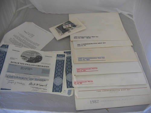 117122: US STAMPS-7 COMMEMORATIVE MINT SETS, 1981-1987