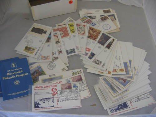 117123: 2 BICENTENNIAL PHILITELIC PASSPORTS + US,FOREIG