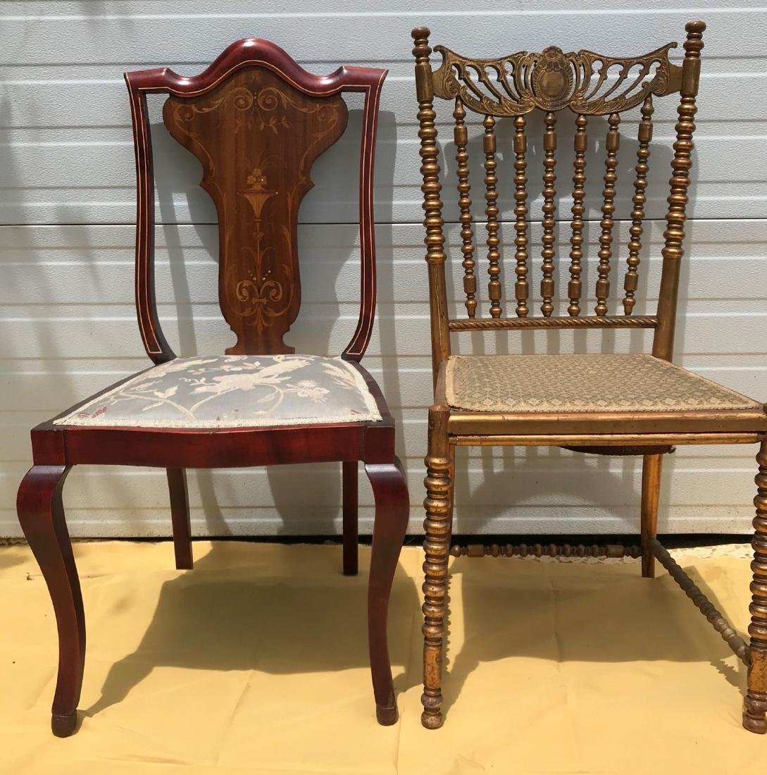 2 VICTORIAN SIDE CHAIRS
