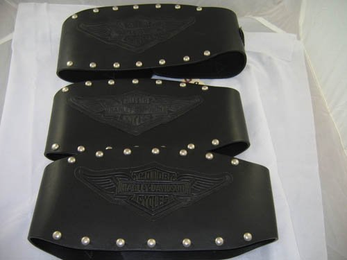 1216118: 3 HARLEY DAVIDSON WEIGHT BELTS LEATHER
