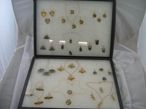 1216120:LOT HARLEY DAVIDSON JEWELRY PINS EARRINGS
