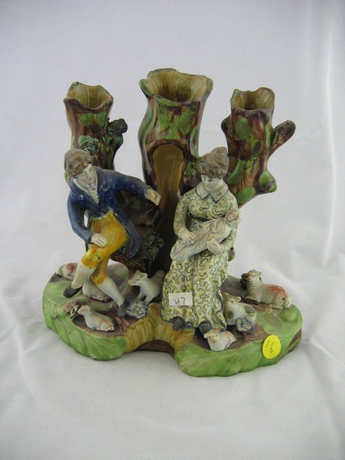 "210016: 8.5"" STAFFORDSHIRE FIGURAL GROUPING, 19TH C.--M"