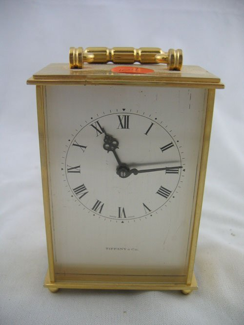 """227104: TIFFANY AND CO. CARRIAGE CLOCK 4 1/2"""" T X 3 1/2"""