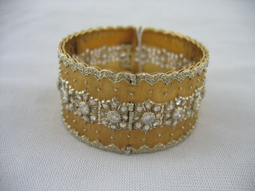 227141: BUCCELLATI 18KT GOLD DIAMOND BRACELET