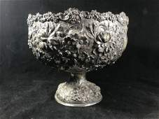 """HUGE STIEFF STERLING SILVER REPOUSSE PUNCH BOWL 12"""""""