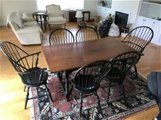 D.R. DIMES REPRODUCTION COUNTRY FARM TABLE WITH
