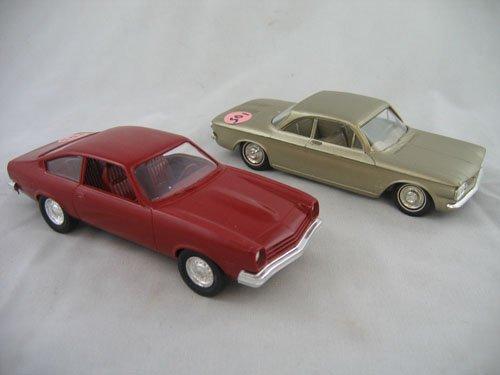 416105: 2 DEALER PROMO CARS '77 CHEVY VEGA  '62 CORVAIR