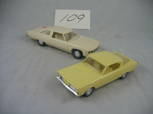 416109: 2 DEALER PROMO CARS '66 BARRACUDA  '76 CAPRICE