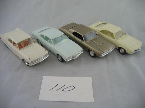 416110: 4 PLASTIC DEALER PROMO TYPE CARS  '68 JAVELIN +