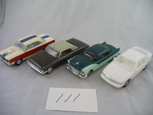 416111: 4 PLASTIC DEALER PROMO TYPE CARS '69 RAMBLER +