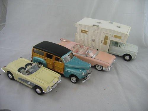 416112: 4 PLASTIC CAR MODELS