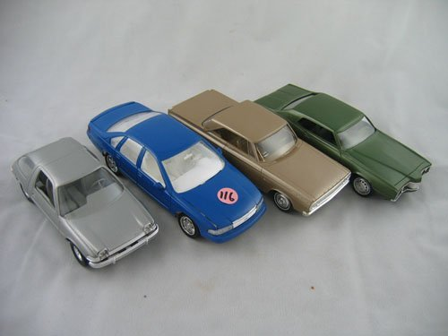416116: 4 PLASTIC DEALER PROMO TYPE CARS PACER, CORONET