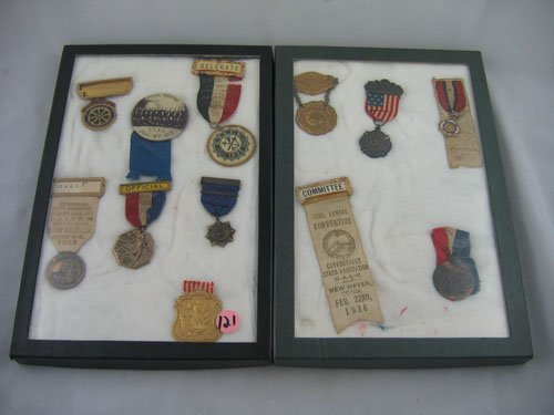 416121: 12 MEDALS AND PINS, POLITICAL CONVENTIONS, ETC.