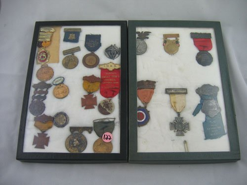 416122: 20 VINTAGE MEDALS RELATED TO CONNECTICUT