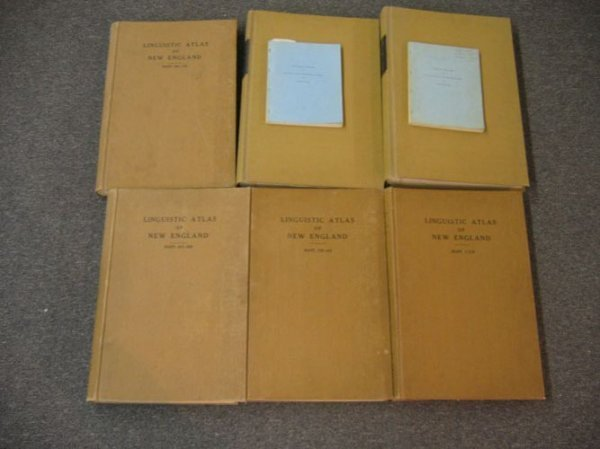 416374: LINGUISTIC ATLAS OF NEW ENGLAND, 6 VOLUMES