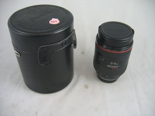 507101: LIKE NEW CANON EF 28-80MM 2:8-4 L LENS W/ SHADE