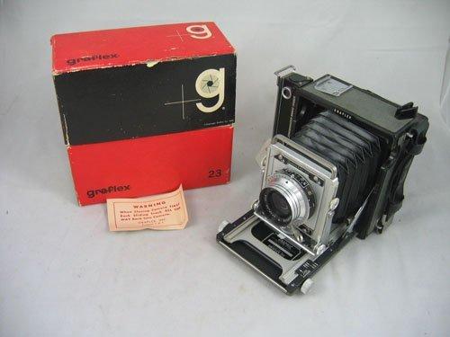 507103: MIB  GRAFLEX 23 PRESS CAMERA W/ 101MM 4.5 LENS