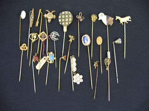 611102: GROUPING VICTORIAN STICK PINS
