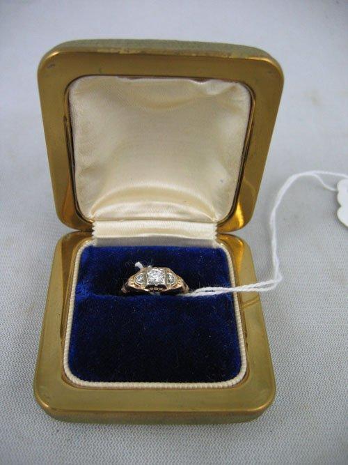 611113:  ANTIQUE 14KT GOLD &  DIAMOND RING,