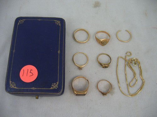611115:  SCRAP GOLD GROUPING, ALL PIECES 10KT OR BETTER