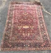 ANTIQUE PERSIAN THROW RUG 44X 610