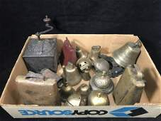 COLLECTION OF 18 ANTIQUE BELLS AND AN EARLY 19TH
