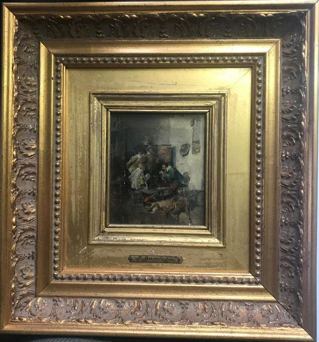 A FRANCISCO DOMINGO MARQUEZ OIL PAINTING ON BOARD IN
