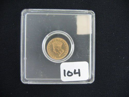 618104: 1874 GOLD INDIAN PRINCESS US COIN, $1, ESTATE C