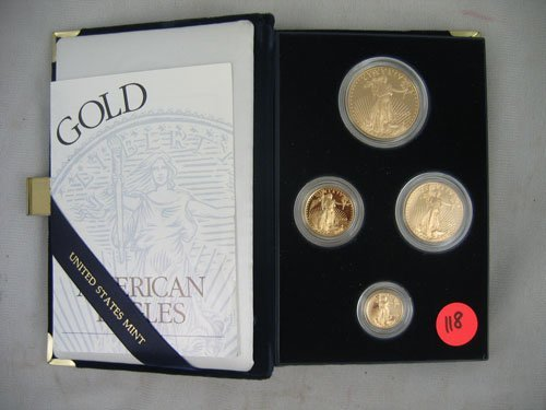 618118: 1997 AMERICAN EAGLE GOLD COIN SET, MINT, INCLUD