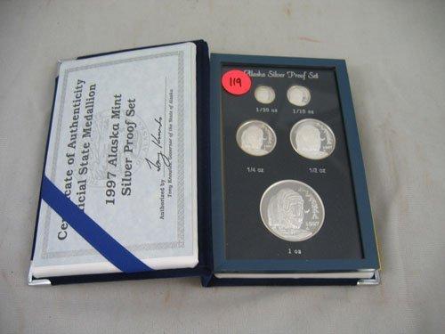 618119: 1997 ALASKA MINT SILVER PROOF SET IN PLUSH CASE