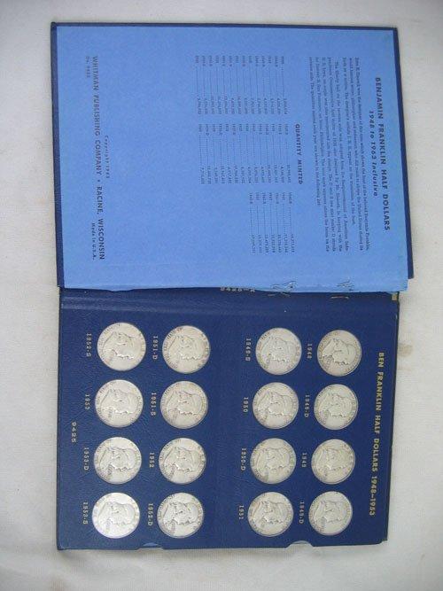 618120: BOOK OF FRANKLIN HALF DOLLARS, 1948-1963, COMPL
