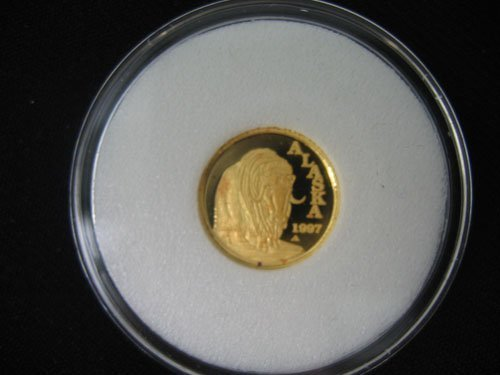 618124: 1997 A GOLD ALASKA STATEHOOD COIN