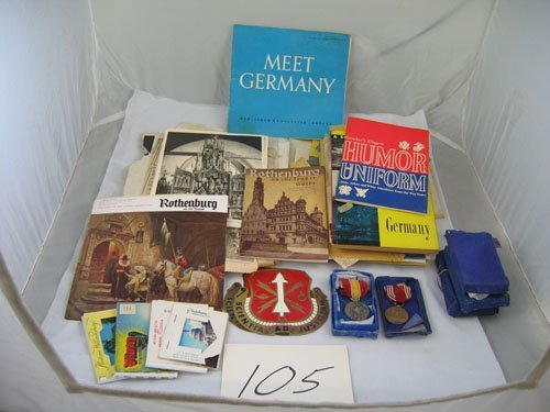 910105: GROUPING OF EUROPEAN TRAVEL RELATED ITEMS, 1940