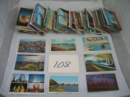 910108: BOX OF 400+ POSTCARDS, TRAVEL, ETC., VARIOUS PE
