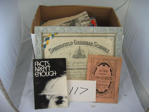 910117: BOX OF VARIOUS 910EMERA, INCLUDES SHEET MUSIC,