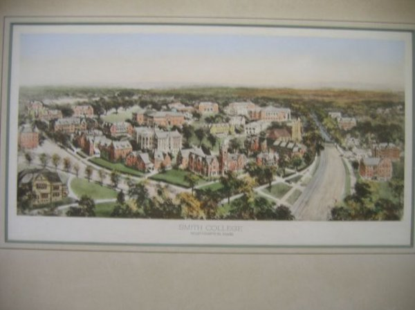 910119: 2 COLOR LITHOGRAPHS OF SMITH COLLEGE