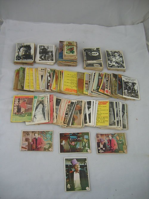 910121: LOT OF 1960S TRADE CARDS, INCLUDES JAMES BOND,