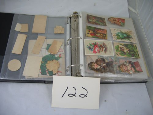 910122: BINDER OF VICTORIAN TRADE CARDS, COOKING BOOKLE