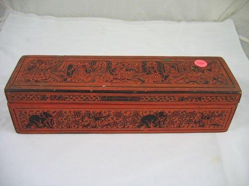 920124: 19TH C. INDIAN LACQUERWARE BOX