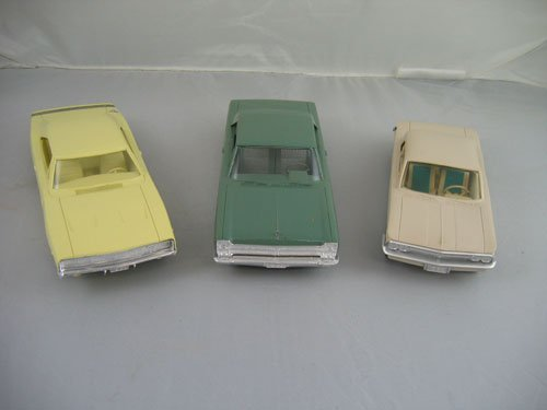 1119104: 3 DEALER PROMO CARS; 1965 GREEN PLYMOUTH FURY,
