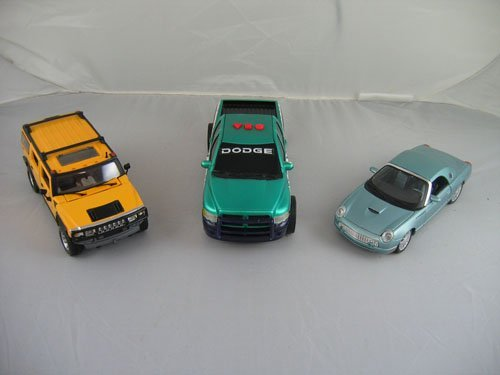 1119108: 3 DEALER PROMO CARS; CONTEMPORARY ICE BLUE FOR