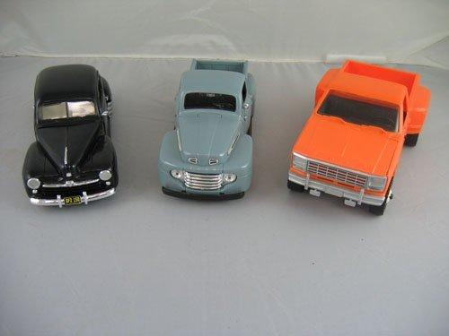 1119113: 3 DEALER PROMO CARS; BLACK VINTAGE FORD, 1948