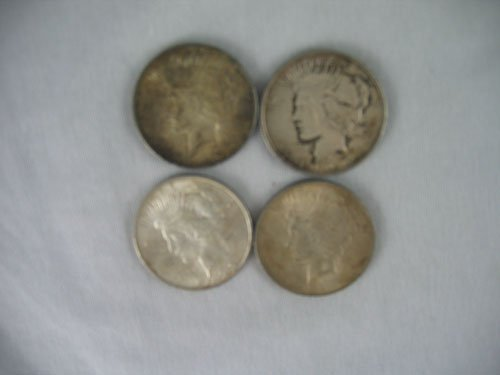 1203115: 4 LIBERTY SILVER DOLLARS, 3 1923 AND 1 1922